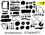set of black paint  ink brush... | Shutterstock .eps vector #574646977