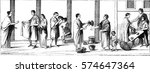market  potters  draper ... | Shutterstock . vector #574647364