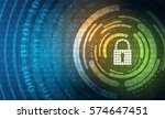 technology security concept.... | Shutterstock .eps vector #574647451