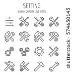 set of setting icons in modern... | Shutterstock .eps vector #574650145