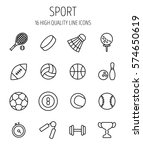 set of sport icons in modern... | Shutterstock .eps vector #574650619