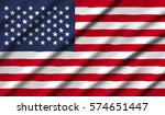 united states waving flag | Shutterstock . vector #574651447