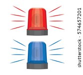 blue and red flashing warning... | Shutterstock .eps vector #574657201