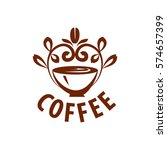 vector logo coffee | Shutterstock .eps vector #574657399