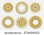 ears of wheat  barley or rye...   Shutterstock .eps vector #574659415