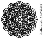 mandala for painting. vector... | Shutterstock .eps vector #574659649