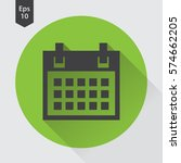 simple flat icon of calendar.... | Shutterstock .eps vector #574662205