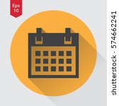 simple flat icon of calendar.... | Shutterstock .eps vector #574662241
