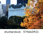 autumn in central park nyc | Shutterstock . vector #574663921