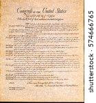 bill of rights | Shutterstock . vector #574666765
