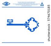 pictogram key icon. | Shutterstock .eps vector #574670185