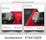 red triangle vector brochure... | Shutterstock .eps vector #574671835