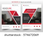 red triangle vector brochure... | Shutterstock .eps vector #574672069