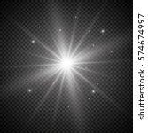 white glowing light burst...   Shutterstock .eps vector #574674997