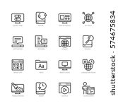 operating system vector icon... | Shutterstock .eps vector #574675834