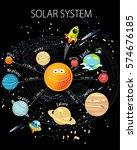vector illustration of solar... | Shutterstock .eps vector #574676185