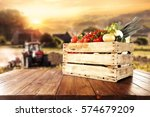vegetables of spring time and... | Shutterstock . vector #574679209