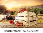 vegetables of spring time and... | Shutterstock . vector #574679329