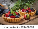 Fresh Homemade Fruit Tart With...