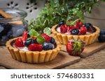 Fresh Homemade Fruit Tart With...