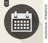 simple flat icon of calendar.... | Shutterstock .eps vector #574684135