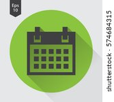 simple flat icon of calendar.... | Shutterstock .eps vector #574684315