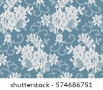 seamless white vector lace... | Shutterstock .eps vector #574686751