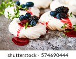 Meringue Dessert Pavlova Cake...