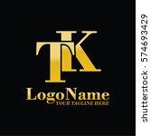 tk logo | Shutterstock .eps vector #574693429