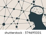 silhouette of a man's head.... | Shutterstock . vector #574695331