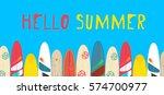 vector hello summer poster... | Shutterstock .eps vector #574700977