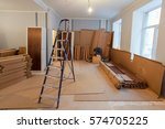 interior of apartment  during... | Shutterstock . vector #574705225