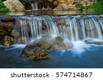 Small Waterfall With Water...