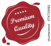 premium quality label  vector... | Shutterstock .eps vector #574720081