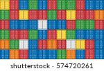 vector of colorful cargo... | Shutterstock .eps vector #574720261