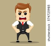 vector businessman standing...   Shutterstock .eps vector #574725985
