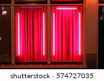 View Of The Window In Red Ligh...
