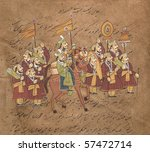 Procession Of Maharajah On...