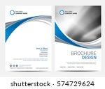 brochure template flyer design... | Shutterstock .eps vector #574729624