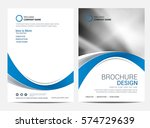 brochure template flyer design... | Shutterstock .eps vector #574729639
