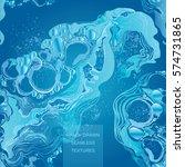 water splash in blue color... | Shutterstock .eps vector #574731865