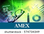 Small photo of AMEX - Abstract digital information to represent Business&Financial as concept. The word AMEX is a part of stock market vocabulary in stock photo