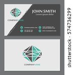business card template.... | Shutterstock .eps vector #574736299