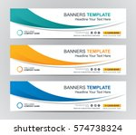 Stock vector abstract web banner design background or header templates 574738324