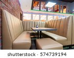 modern design sofa and a table... | Shutterstock . vector #574739194