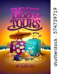 best tours poster with big... | Shutterstock .eps vector #574739719
