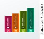 modern infographics template. | Shutterstock .eps vector #574747324