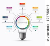 lightbulb infographic template... | Shutterstock .eps vector #574750549