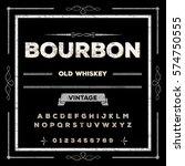 bourbon font handwritten... | Shutterstock .eps vector #574750555