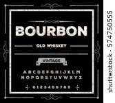 bourbon font script typeface...   Shutterstock .eps vector #574750555